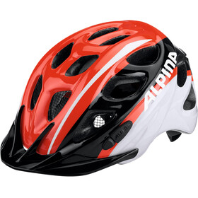 Alpina Rocky Helmet neon red-black-white
